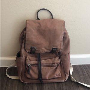 Everlane Snap Backpack in Burgundy